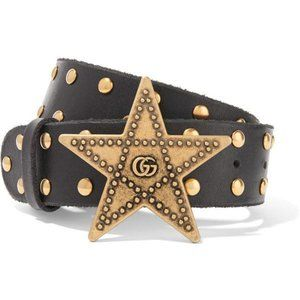 Firm Price🌻Gucci Star Studded Brown Belt - 75/30